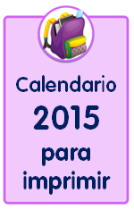 Materiales educativos: Calendario 2015 para imprimir mes a mes