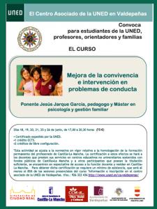 Cartel curso mejora convivencia UNED de Jesus Jarque
