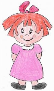 Ana niña de Educación Infantil personaje de Familia y Cole