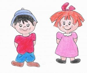 Ana y David personajes de Familia y Cole