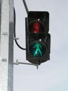 Semáforo verde para los peatones