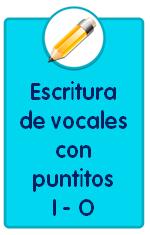 Recursos para descargar de Educación Infantil: fichas de escritura de las vocales I O con puntitos