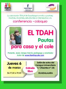 Conferencia sobre el TDAH pautas para el cole y casa