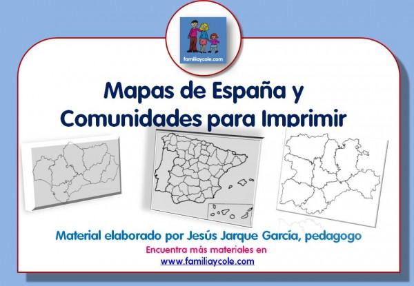 Presentación de los mapas para imprimir de España y comunidades autónomas