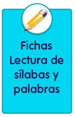 recursos para descargar de Educación Infantil como estas fichas de lectura de sílabas y palabras