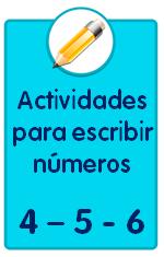 Recursos para descargar de Educación Infantil, ejercicios para escribir los números 4, 5 y 6