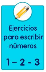 Recursos para descargar de Educación Infantil, ejercicios para escribir los números 1, 2 y 3