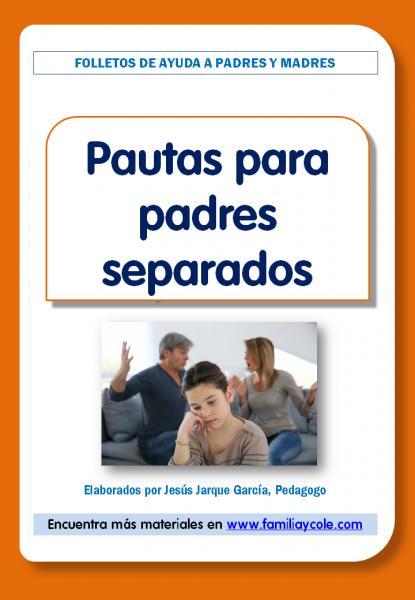Pautas para padres separados, folleto para imprimir
