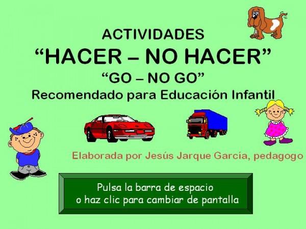 Tarea Go - No Go para Educación Infantil
