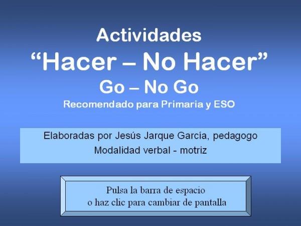 Para practicar las tareas go-no go