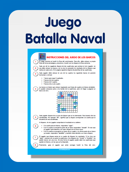 Juego de la batalla naval para imprimir