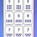 Juego de cartas para aprender los números del 1 al 9