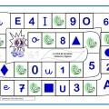 Juego de la oca para repasar letras, números y figuras