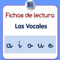 Fichas lectura de vocales minúsculas y mayúsculas