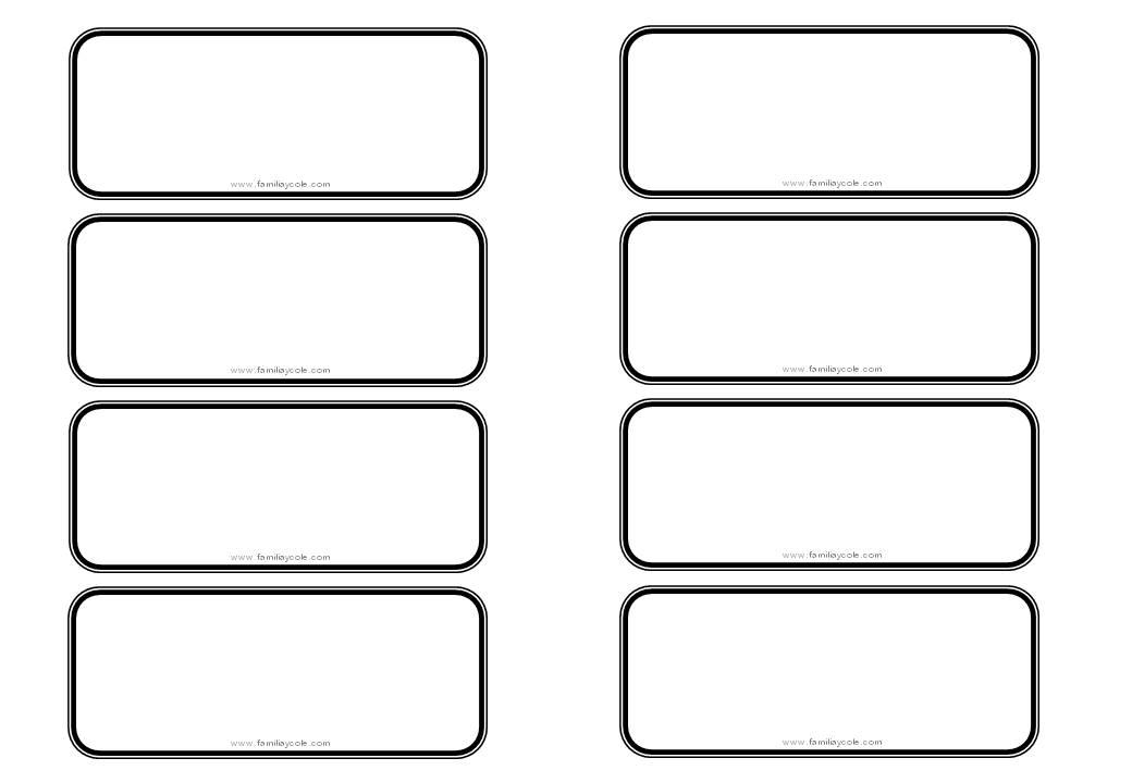 Modelo de etiqueta para descargar sin dibujo