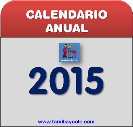 Calendario 2015 para imprimir mes a mes con espacio para realizar anotaciones