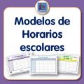 Modelos de horario escolar para descargar