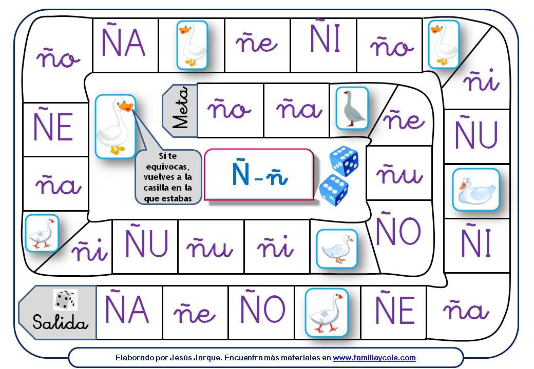 Oca para reforzar la lectura de sílabas con la Ñ