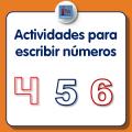 Actividades para escribir números para niños, para descargar e imprimir gratis, dedicadas al cuatro, cinco y seis