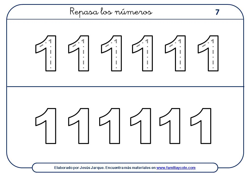 Ejercicios para escribir números, escribir doce números