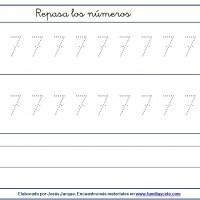 Fichas para escribir números, el siete con puntitos tamaño pequeño