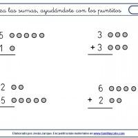 suma con puntitos sin llevadas menores de nueve