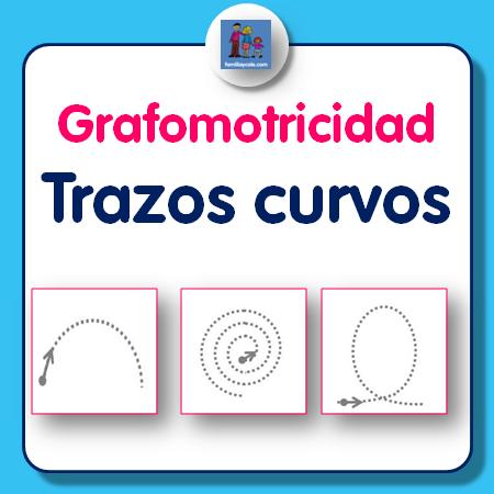 Ejercicios de grafomotricidad con trazos curvos