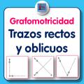 Fichas de grafomotricidad para imprimir, trazos rectos y oblicuos