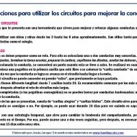 Instrucciones para utilizar los circuitos de pegatinas para mejorar la conducta