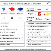 Fichas de comprensión de instrucciones escritas, manejar información y dibujos
