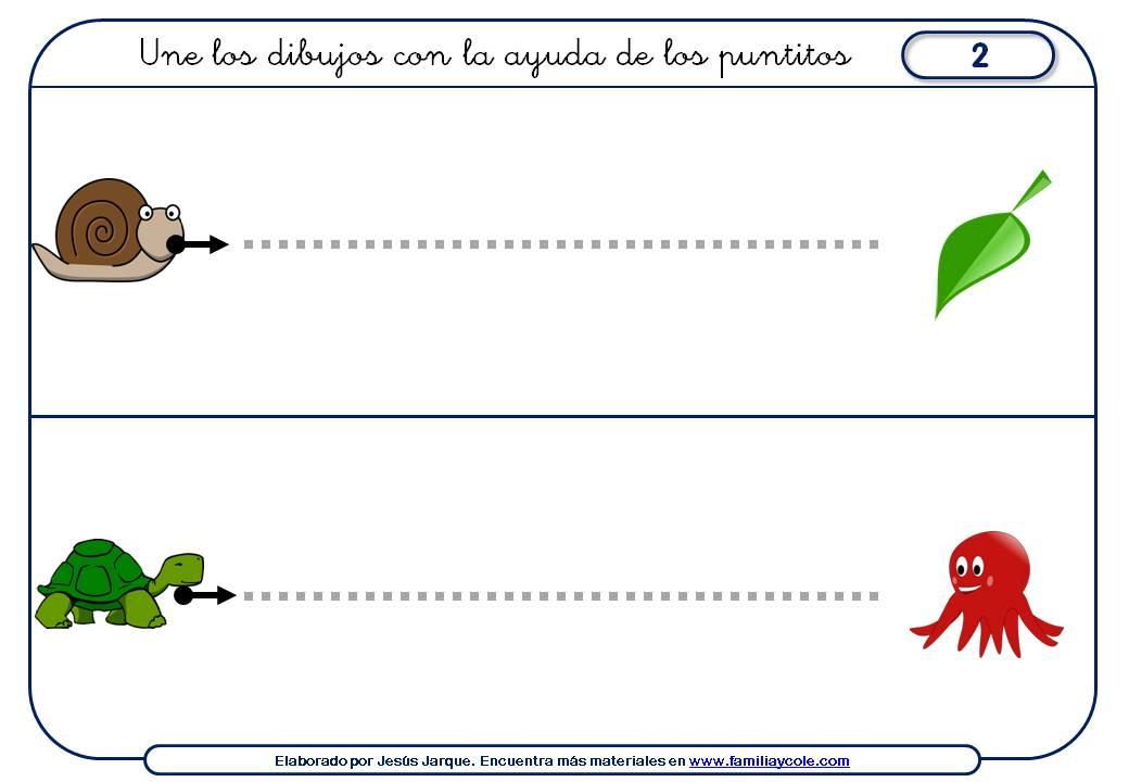 fichas grafomotricidad inicial, trazos horizontales