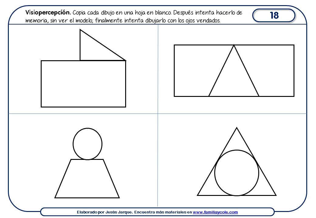 Paquete de fichas con actividades para mejorar la percepción visual