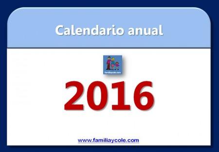 calendario 2016 para imprimir mes a mes