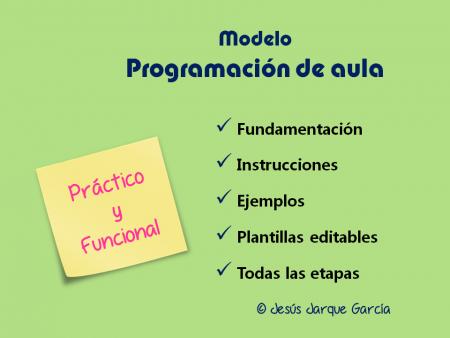 Modelo de Programación de Aula elaborado por Jesús Jarque