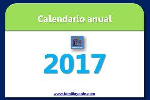 Calendario 2017 para imprimir, mes a mes