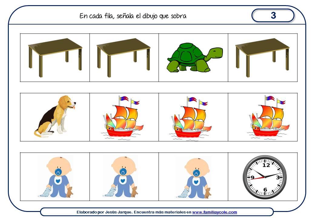 Fichas de razonamiento para niños elaboradas por Jesús Jarque