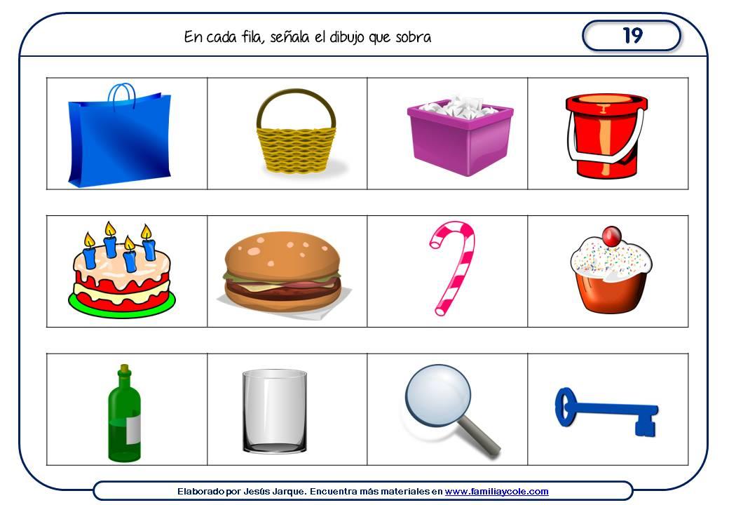 Fichas de razonamiento para niños para Primaria