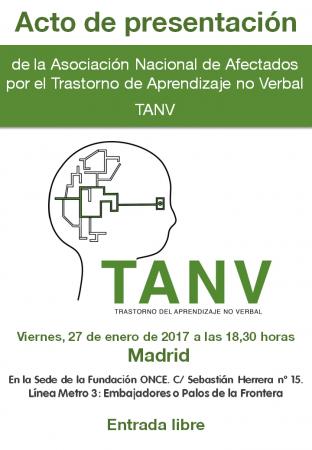 Cartel Acto presentación Asociación TANV