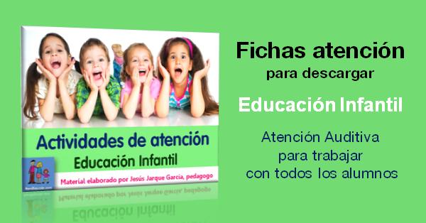 Fichas de atención para Educación Infantil elaboradas por Jesús Jarque