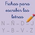 Fichas de escritura de letras consontantes para descargar en formato PDF