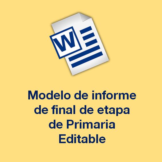 Modelo de Informe de Final de Etapa de Primaria