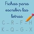 Fichas de escritura de letras para descargar
