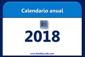Calendario 2018 para descargar e imprimir
