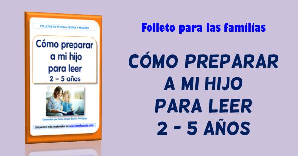 Cómo preparar a mi hijo para leer, folleto de Jesús Jarque