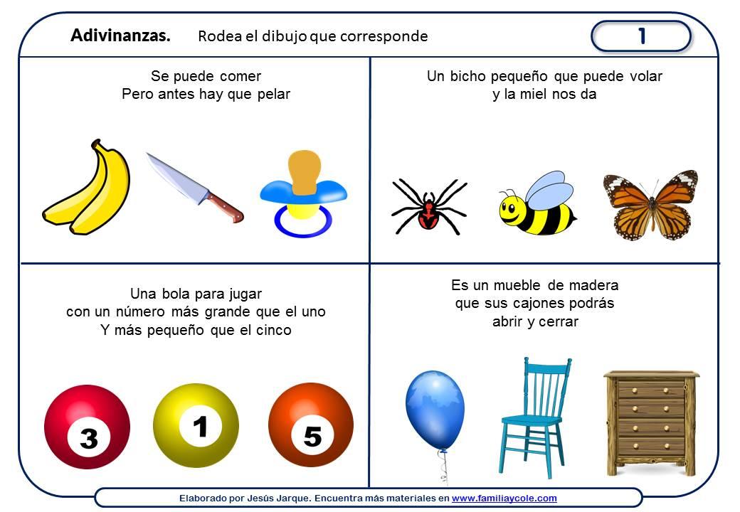 Adivinanzas para niños para descargar e imprimir