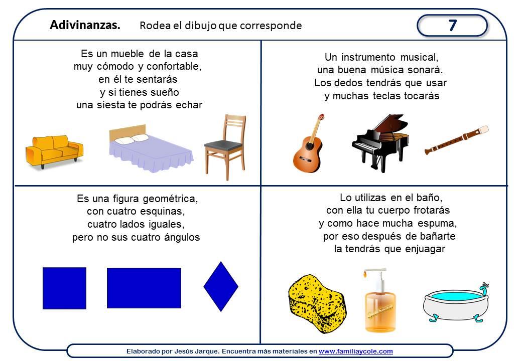 Adivinanzas para niños para imprimir