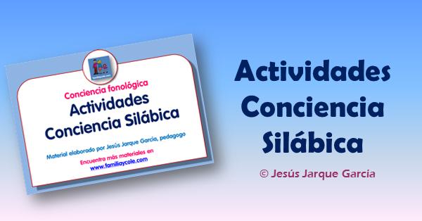 Fichas de conciencia silábica para descargar