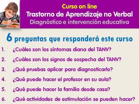 Curso on line sobre el TANV, 6 preguntas que quiere responder