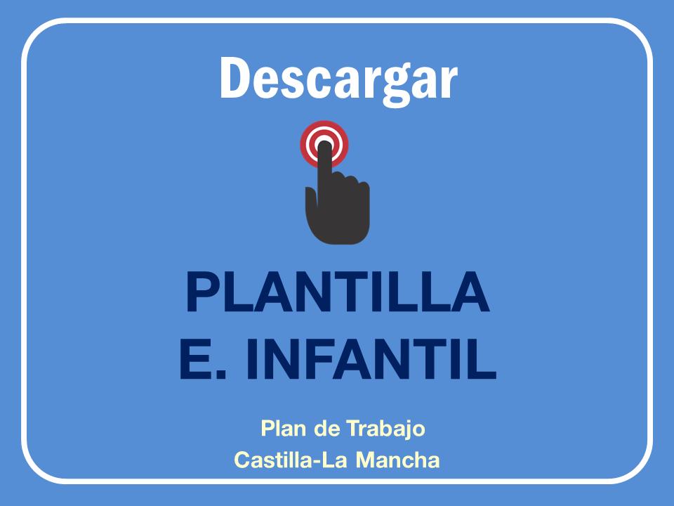 Plantilla Plan de Trabajo Educación Infantil Castilla La Mancha