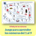 Rally de los números, juego para aprender los números del 1 al 9